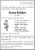 Irma Gallas geb. Häuser