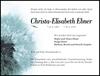 Christa-Elisabeth Ebner