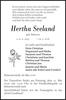 Hertha Seeland