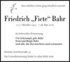 Friedrich Fiete Bahr