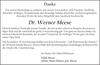 Dr. Werner Meese