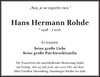 Hans Hermann Rohde