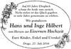 Hans und Inge Hilbert