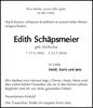 Edith Schäpsmeier geb. Dickschas