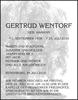 GERTRUD WENTORF