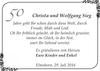 Christa und Wolfgang Sieg