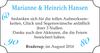 Marianne und Heinrich Hansen