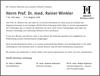 Prof. Dr. med. Rainer Winkler