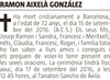 Esquela de Fallecimiento de RAMON AIXELÀ GONZÁLEZ