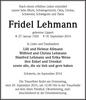 Fridel Lehmann