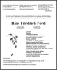 Hans Friedrich Först