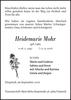 Heidemarie Mohr