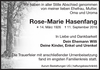 Rose Marie Hasenfang