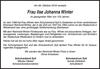 Frau Ilse Johanna Winter