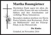 Martha Baumgärtner