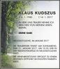 Klaus Kudszus