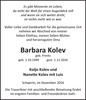 Barbara Kolev