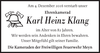 Karl Heinz Klang