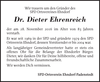 Dr. Dieter Ehrenreich