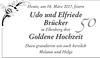 Udo und Elfriede Brücker Goldene