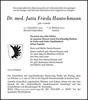 Dr. med. Jutta Frieda Hantschmann