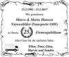 Marco Mario Hansen Nienwohlder-Transporte OHG Firmenjubiläum
