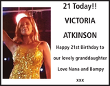 Birthday notice for VICTORIA ATKINSON
