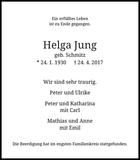 Helga Jung : Traueranzeige