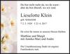 Lieselotte Klein